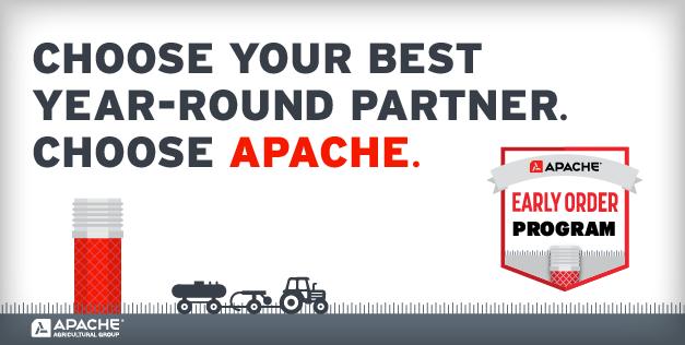 Choose your best partner this season. Choose Apache.