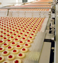 Food Conveyor with Cookies