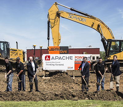 Apache employee-owners taking part in Apache's groundbreaking ceremony