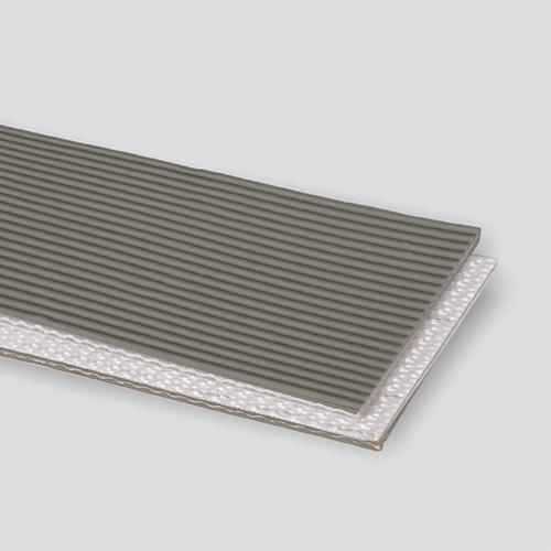 2-Ply 100# Polyester Monofilament Gray PVC Longitudinal Rib x Bare
