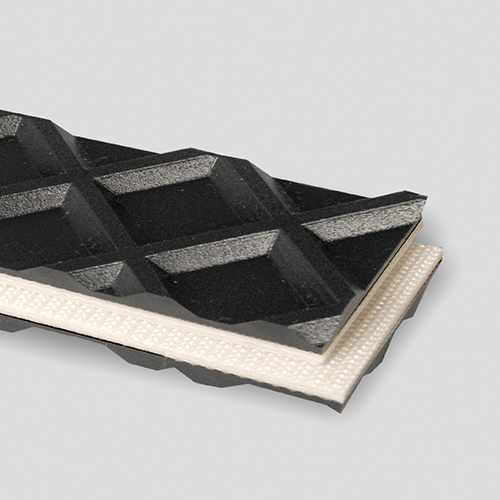3-Ply 150# Polyester Monofilament Black PVC Waffle Top x Bare