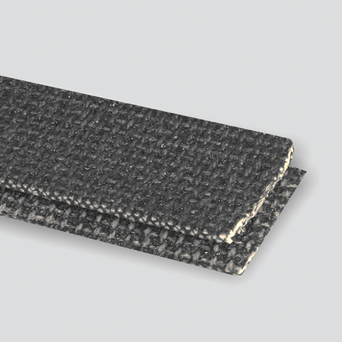 Interwoven 120# Polyester Black PVC Friction x Brushed