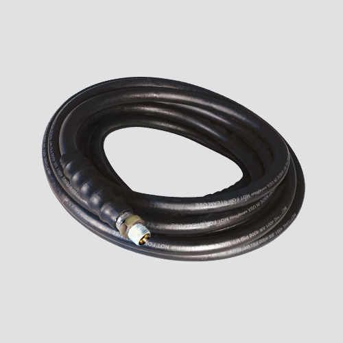 "3/8"" x 50' 3000 PSI Black Pressure Washer Hose Assembly — Male x Male Swivel"