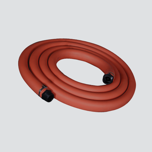 "1"" x 12' Red EPDM Chemical Transfer Pump Hose — Assembly"