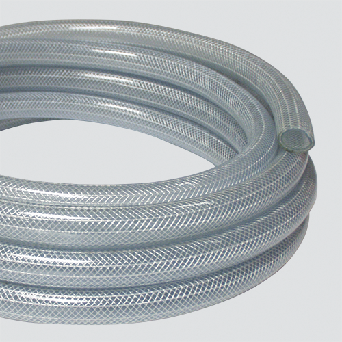 "1"" x 50' Reinforced Clear Vinyl Tubing — Coiled"