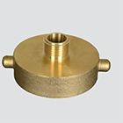 "1-1/2"" Female National Straight Thread x 1-1/2"" Male National Pipe Thread Brass Hydrant Adapter"