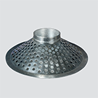 "1-1/2"" Top Hole Suction Skimmer — Plated Steel"