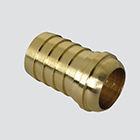 "1/2"" Female Pipe Thread Ball Seat Swivel x 1/2"" Hose Barb Brass Fitting"