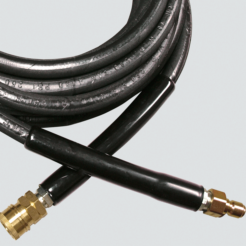 "3/8"" x 25' 4000 PSI Pressure Washer Hose Assembly — Quick Disconnect"