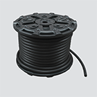 "1"" x 100' Black 300 PSI Multipurpose (AG 300) Air & Water Hose — Reel"