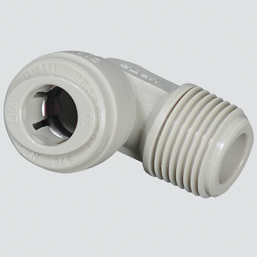 "1/2"" Tube x 3/8"" Male Pipe Thread 90° Elbow Push-In Fitting"
