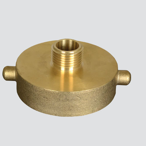 "2-1/2"" Female National Straight Thread x 2"" Male National Pipe Thread Brass Hydrant Adapter"