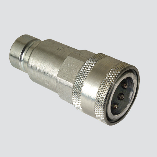 """1/2"""" Flat Face Male Tip x 1/2"""" Female Coupler Quick Disconnect Skid Steer Coupler (FAE56-49-4)"""