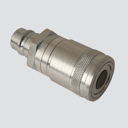 "1/2"" Flat Face Male Tip x 1/2"" Flat Face Female Coupler Quick Disconnect Skid Steer Coupler (FAE49-56-4)"