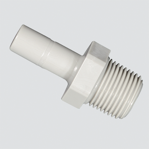 "1/2"" Stem x 1/2"" Male Pipe Thread Push-On Adapter"
