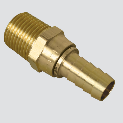 "1/4"" Male Pipe Thread Swivel x 1/4"" Hose Barb Brass Fitting"