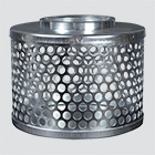 "1-1/2"" Round Hole Suction Strainers — Plated Steel"