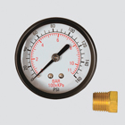 "2"" 160 PSI Dry Pressure Gauge — 1/8"" Male Pipe Thread Center Back Mount"