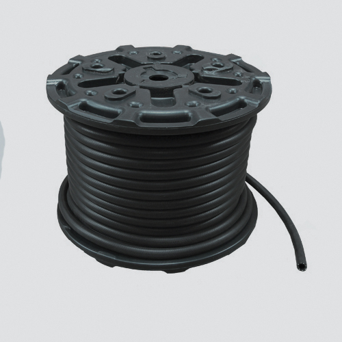 "1"" x 125' Black 200 PSI Multipurpose (AG 200) Air & Water Hose — Reel"