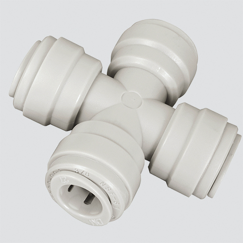 "1/4"" Four Way Cross Union Push-In Fitting"