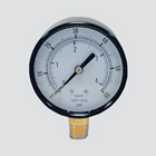"2-1/2"" 100 PSI Dry Pressure Gauge — 1/4"" Male Pipe Thread Lower Mount"