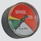 "2"" 25 PSI Hydraulic Filter Service Indicator Gauge"