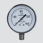"2-1/2"" 60 PSI Anhydrous Ammonia Pressure Gauge — 1/4"" Male Pipe Thread Lower Mount"