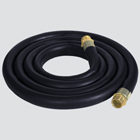 "1"" x 12' Black EPDM Chemical Transfer Pump Hose — Assembly"