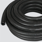 "1"" x 10' Black 200 PSI Multipurpose (AG 200) Air & Water Hose — Coiled"