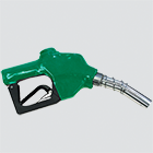 "1"" Green Automatic Shut-Off Diesel Fuel Nozzle — 1"" Spout"