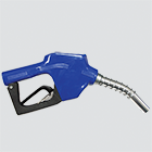 "3/4"" Blue Automatic Shut-Off Fuel Nozzle — 15/16"" Spout"