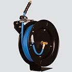 "1/2"" x 50' 300 PSI Blue Rubber Air Hose Reel"