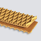 1-Ply 150# Plastic Mesh ZipLink Tan Diamond Top x Bare