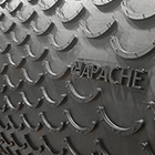 2-Ply 220# 1/8 x 1/16 Apache PowerCleat™ with 1/2 High x 6 Overall  Width Molded Crescents