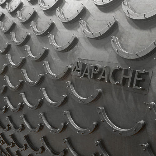 2-Ply 220# 1/8 x Bare Apache PowerCleat™ with 1/2 High x 6 Overall  Width Molded Crescents