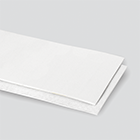 2-Ply 100# Polyester White Urethane Cover x Bare