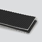 2-Ply 100# Spun Polyester Black RMV Pebbletop x Friction