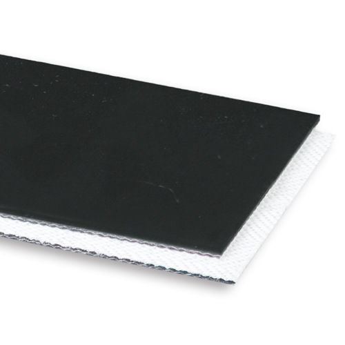 2-Ply 90# Polyester Black PVC Matte Cover x Bare Whisper Weave Antistatic/Fire Retardant
